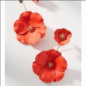 Anthropologie Captiva Floral back Front Earrings